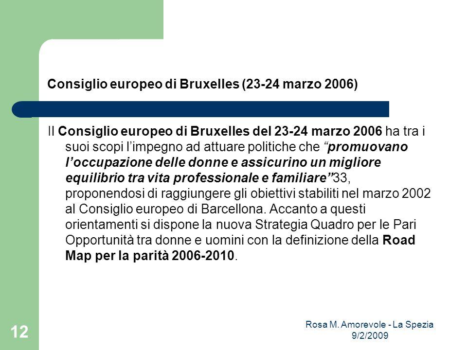 Consiglio europeo di Bruxelles (23-24 marzo 2006) Il Consiglio europeo di Bruxelles del 23-24 marzo 2006 ha tra i suoi scopi limpegno ad attuare polit