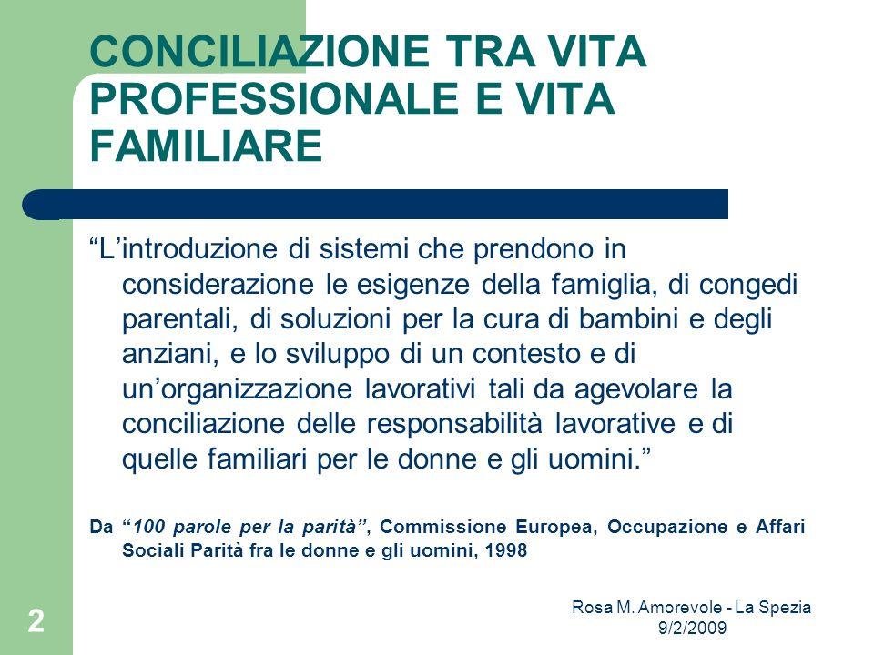 Il percorso definitorio del concetto di conciliazione Tre tappe fondamentali: 1.