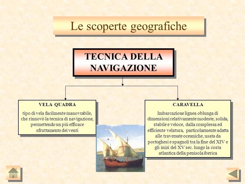 e scoperte geografiche CARAVELLA Imbarcazione lignea oblunga di dimensioni relativamente modeste, solida, stabile e veloce, dalla complessa ed efficie
