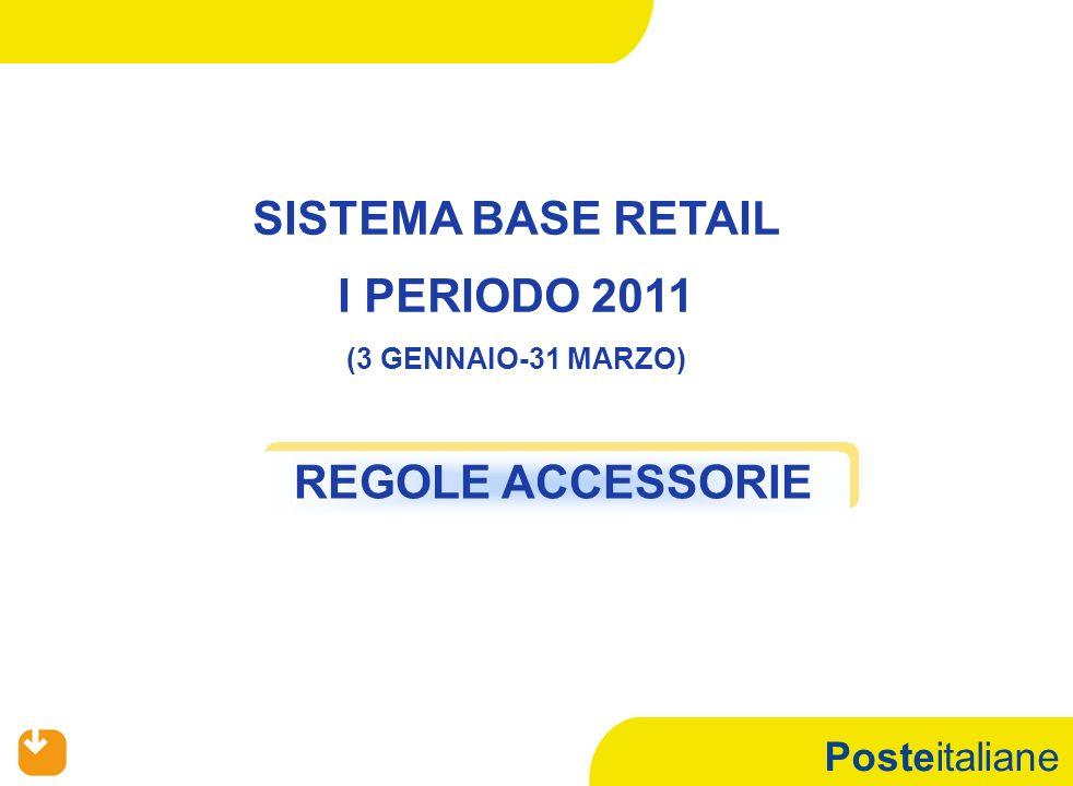 Posteitaliane REGOLE ACCESSORIE SISTEMA BASE RETAIL I PERIODO 2011 (3 GENNAIO-31 MARZO)