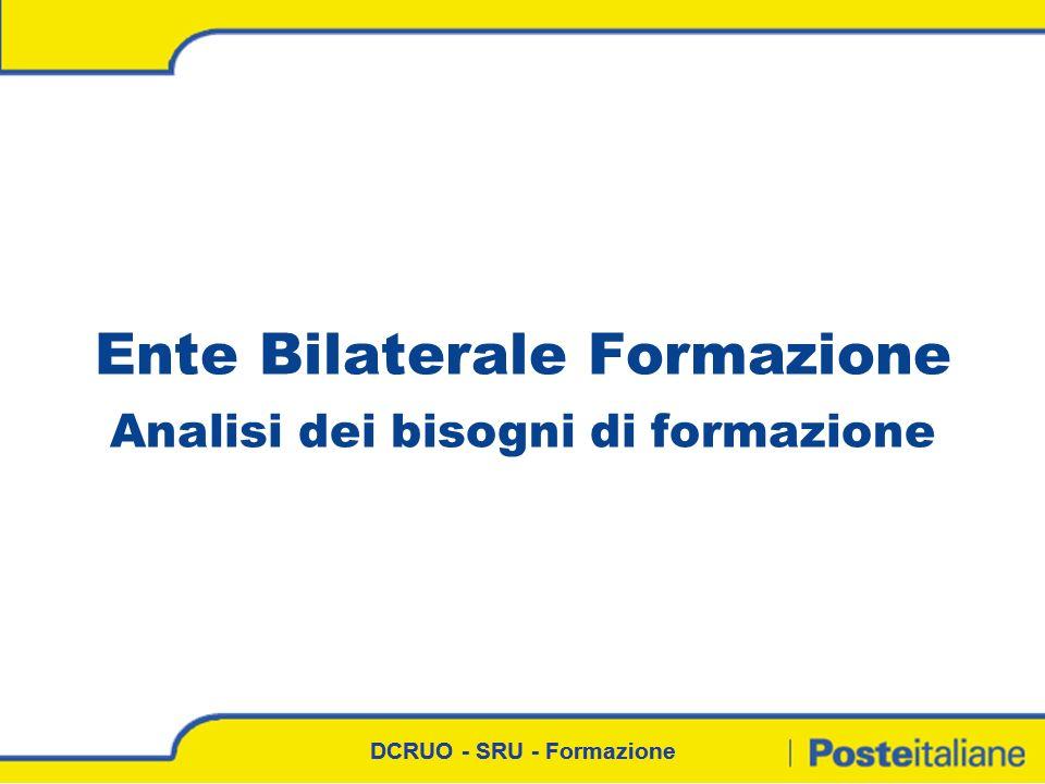 DCRUO - SRU - Formazione Ente Bilaterale Formazione Analisi dei bisogni di formazione