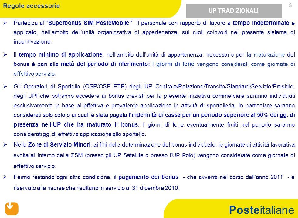 Posteitaliane 5 Partecipa al Superbonus SIM PosteMobile il personale con rapporto di lavoro a tempo indeterminato e applicato, nellambito dellunità or