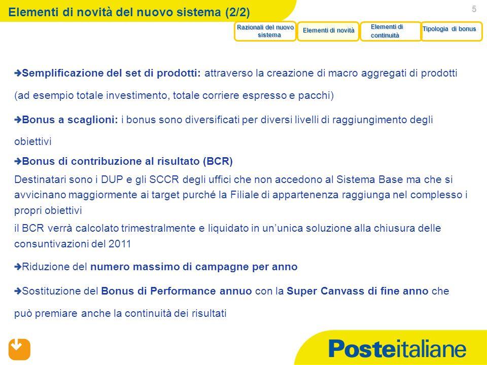 05/02/2014 5 Elementi di novità del nuovo sistema (2/2) Semplificazione del set di prodotti: attraverso la creazione di macro aggregati di prodotti (a