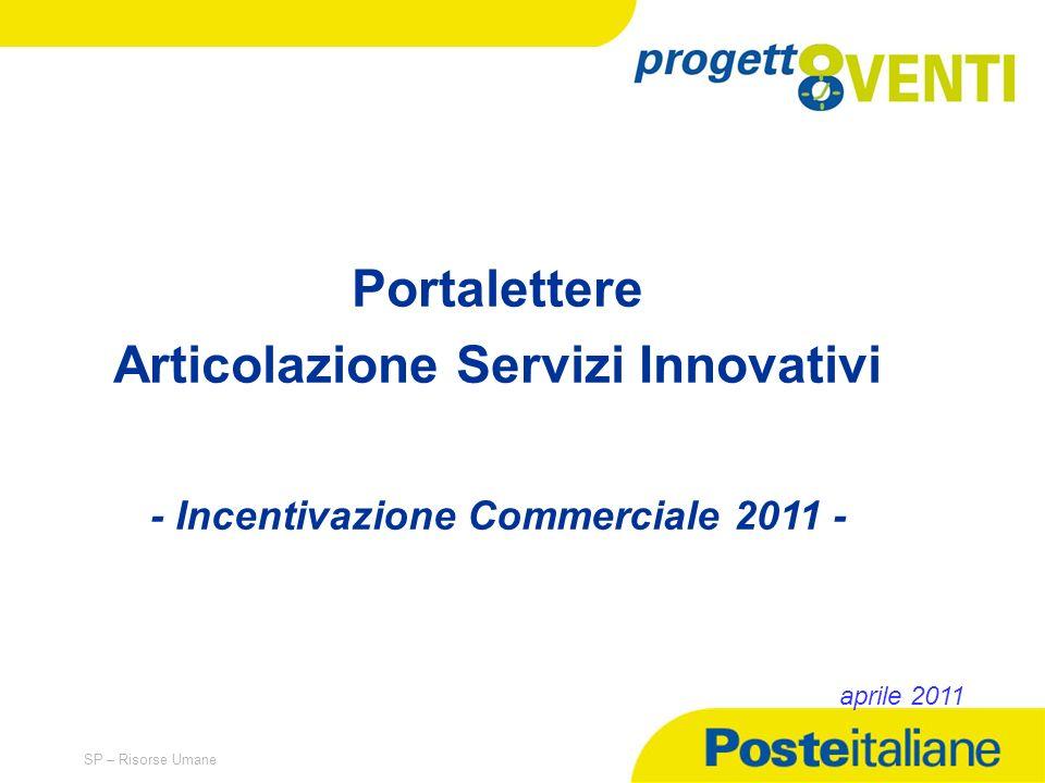 05/02/2014 SP – Risorse Umane Portalettere Articolazione Servizi Innovativi - Incentivazione Commerciale 2011 - aprile 2011