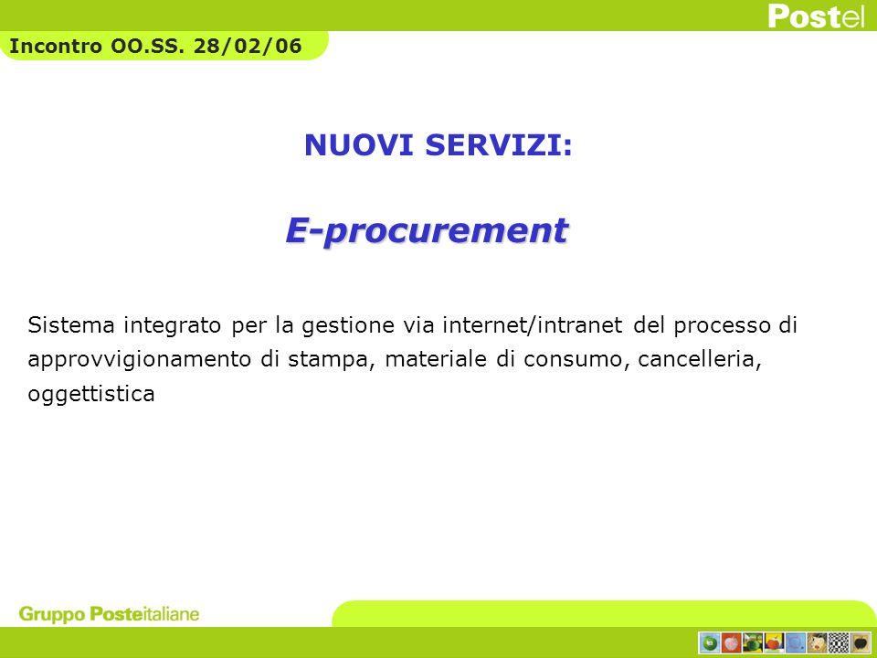 NUOVI SERVIZI: Sistema integrato per la gestione via internet/intranet del processo di approvvigionamento di stampa, materiale di consumo, cancelleria