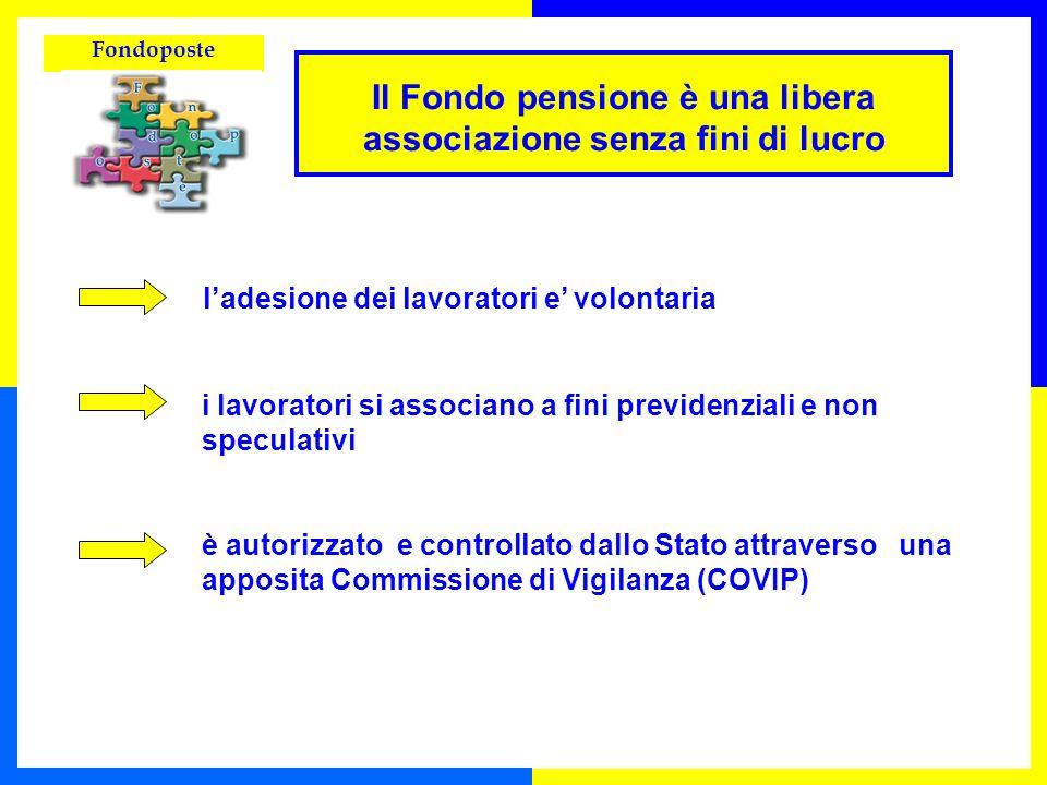 Fondoposte Il Fondo pensione è una libera associazione senza fini di lucro ladesione dei lavoratori e volontaria i lavoratori si associano a fini prev