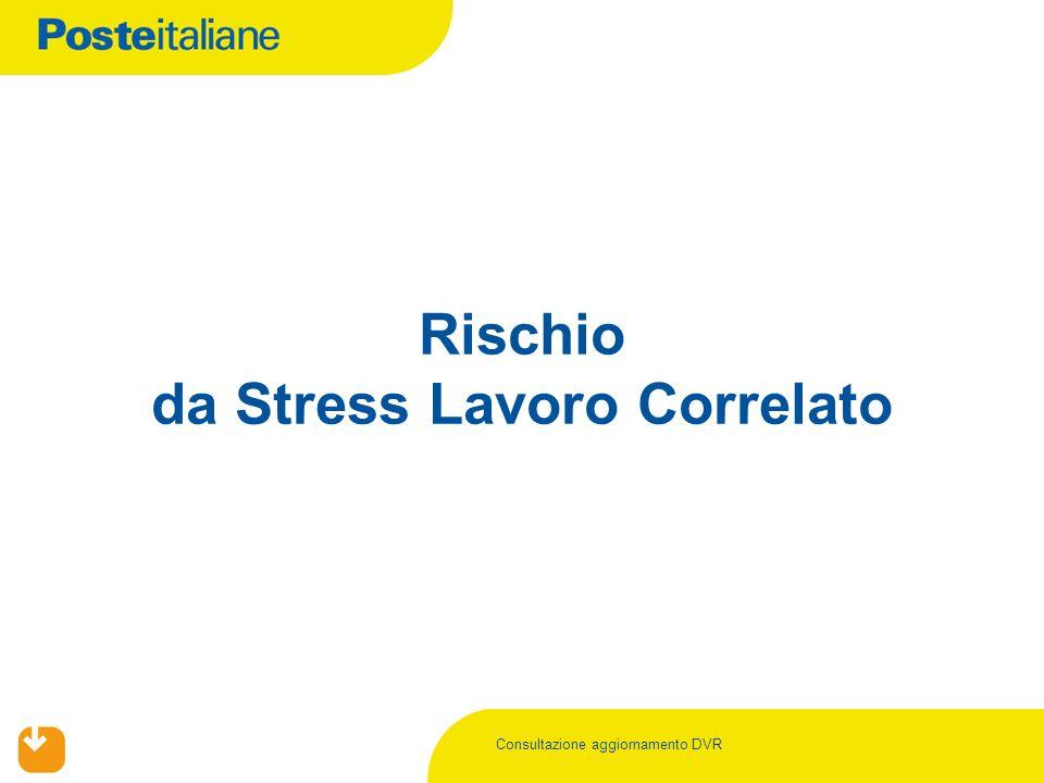 Consultazione aggiornamento DVR Rischio da Stress Lavoro Correlato