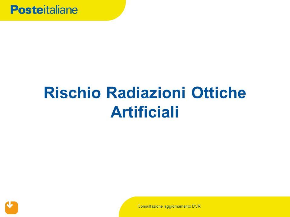 Consultazione aggiornamento DVR Rischio Radiazioni Ottiche Artificiali