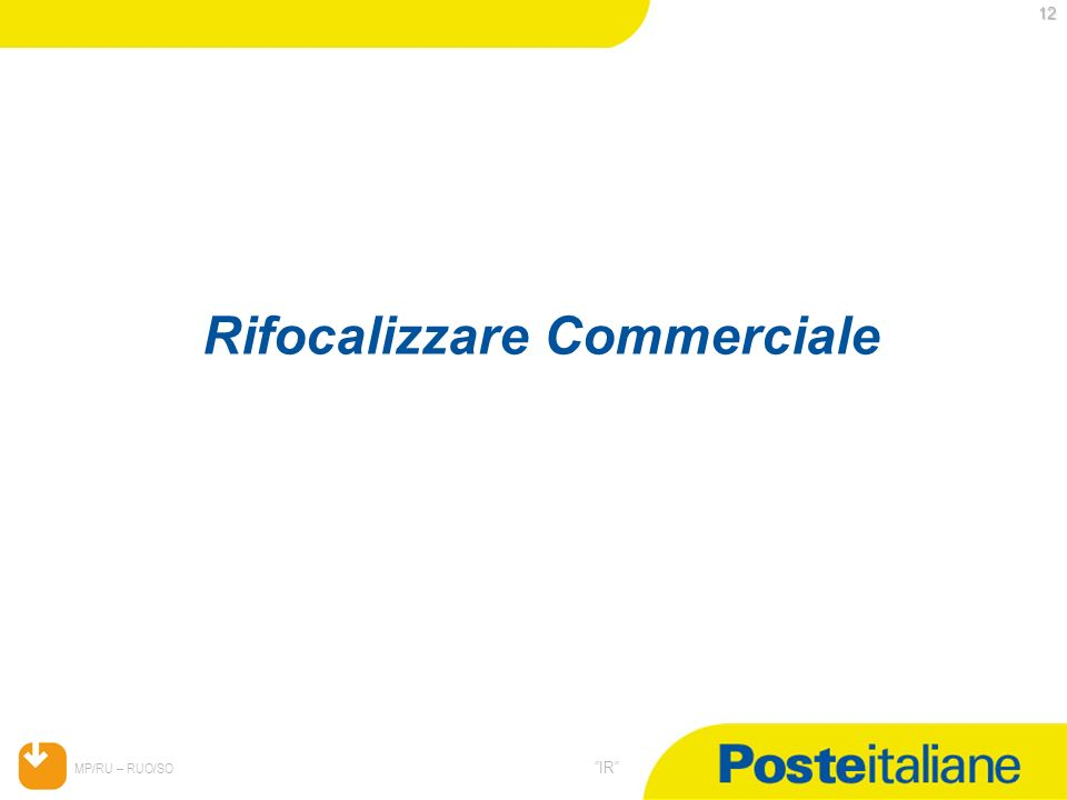 05/02/2014 MP/RU – RUO/SO IR 12 Rifocalizzare Commerciale