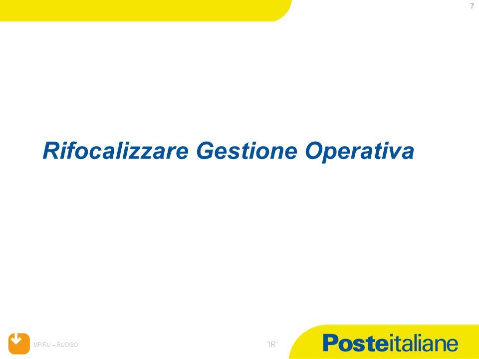 05/02/2014 MP/RU – RUO/SO IR 68 Levoluzione del modello organizzativo dei CCA (Competence Center Amministrativi)