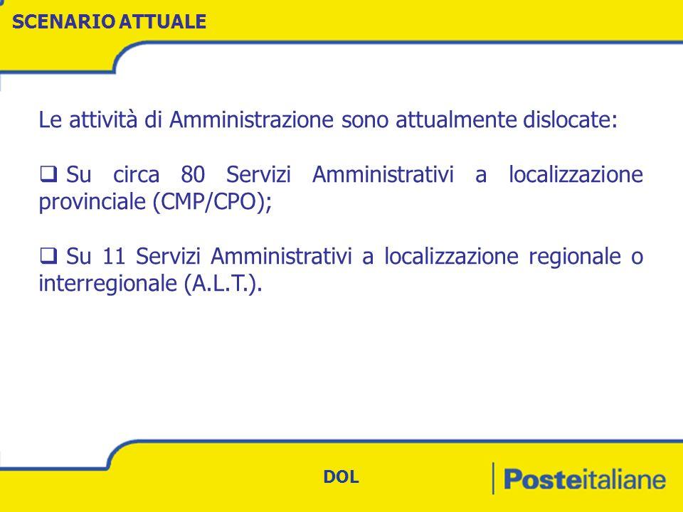 N.STRUTTURE AMMINISTRATIVE PER AREA LOGISTICA TERRITORIALE C.C..
