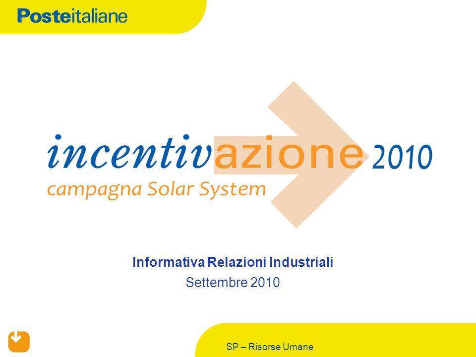 SP – Risorse Umane Informativa Relazioni Industriali Settembre 2010
