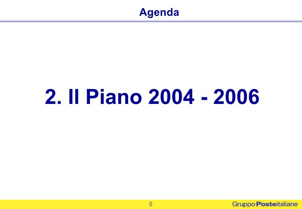 6 2. Il Piano 2004 - 2006 Agenda