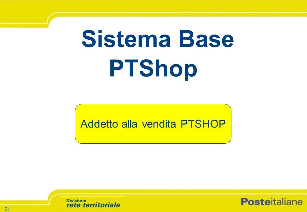 -21 - -Versione 1.5 – 26.03.04 21 PTShop Addetto alla vendita PTSHOP Sistema Base