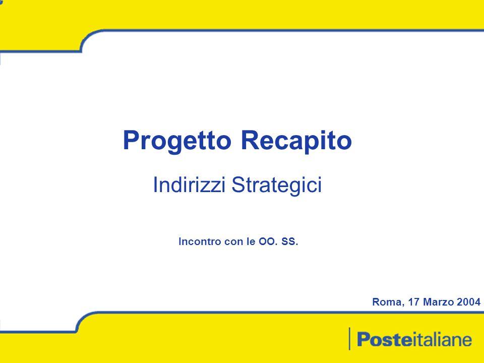1 Progetto Recapito Indirizzi Strategici Roma, 17 Marzo 2004 Incontro con le OO. SS.