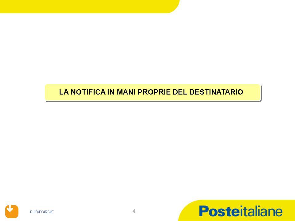 RUO/FCIRSI/F 45 Avviso di Notifica di Atto mediante deposito nella Casa Comunale