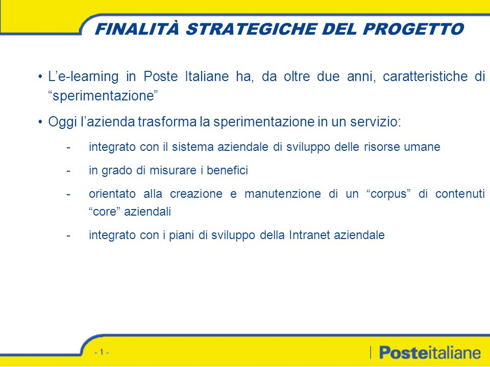 Progetto e-Learning Ente Bilaterale della Formazione Roma, 22 dicembre 2004
