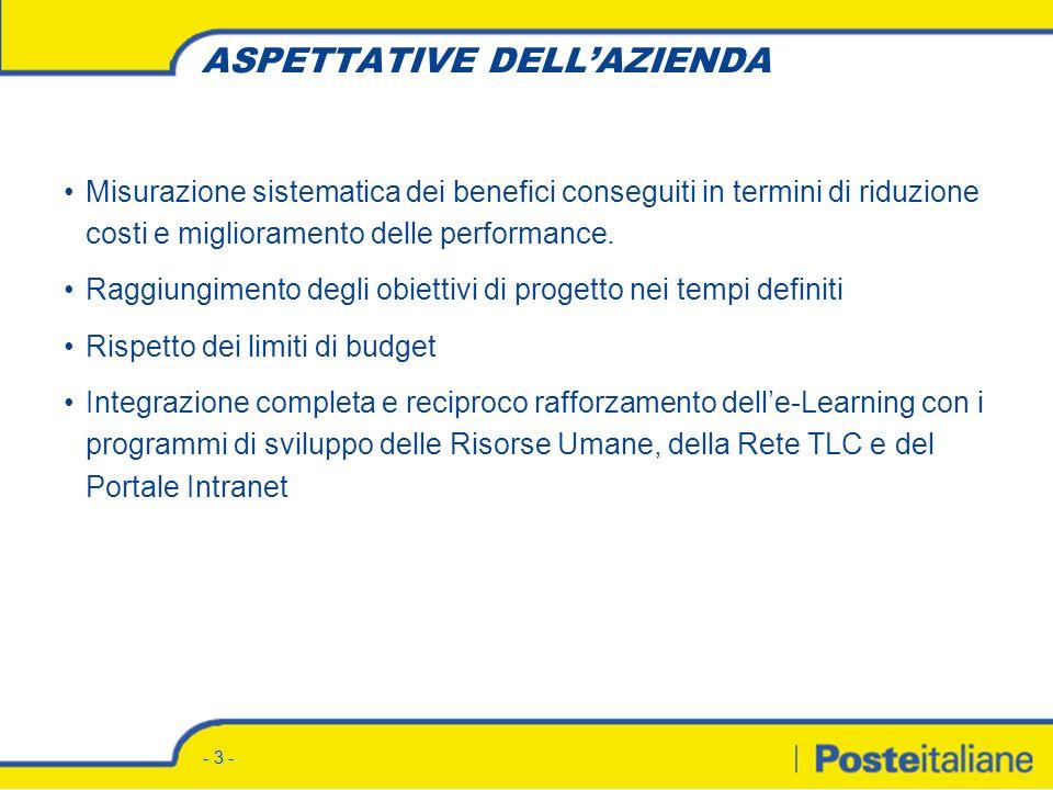 - 3 - Misurazione sistematica dei benefici conseguiti in termini di riduzione costi e miglioramento delle performance.