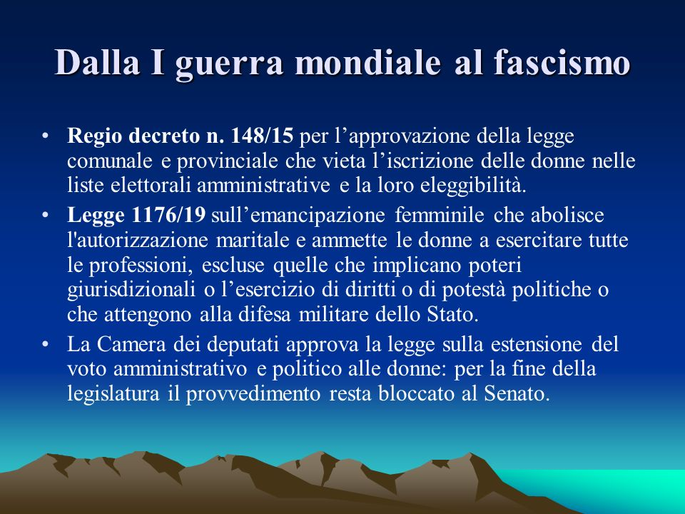Periodo fascista I regi decreti nn.