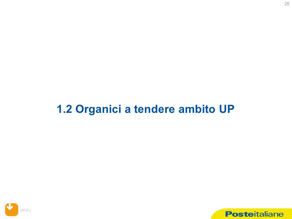 MP/RU 26 26 1.2 Organici a tendere ambito UP