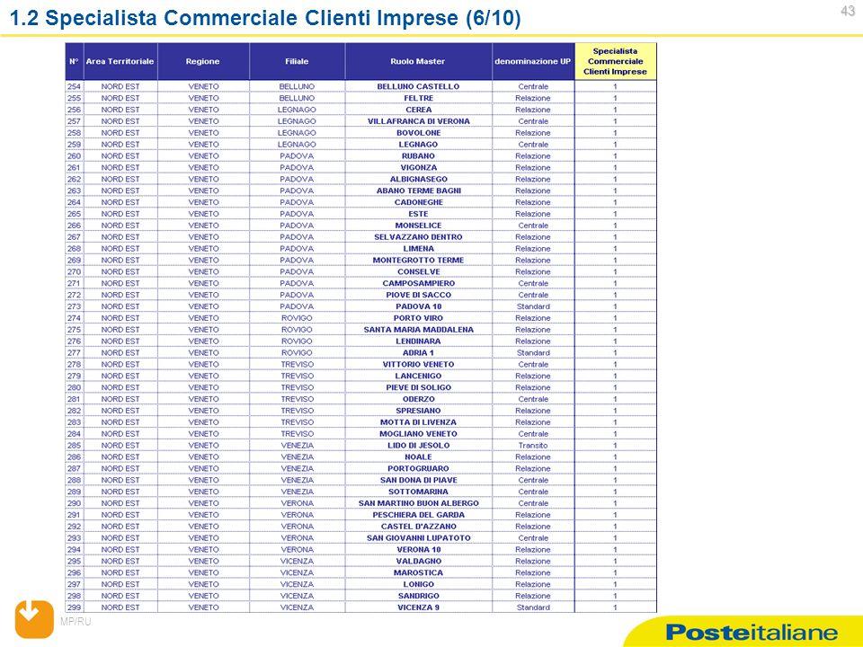 MP/RU 43 43 1.2 Specialista Commerciale Clienti Imprese (6/10)