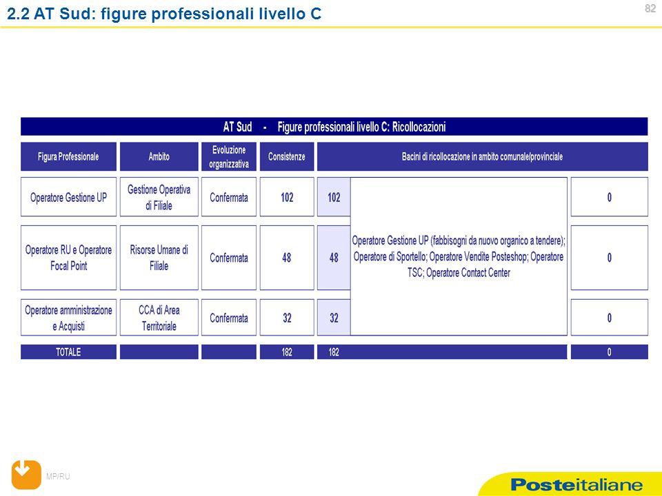 MP/RU 82 82 2.2 AT Sud: figure professionali livello C