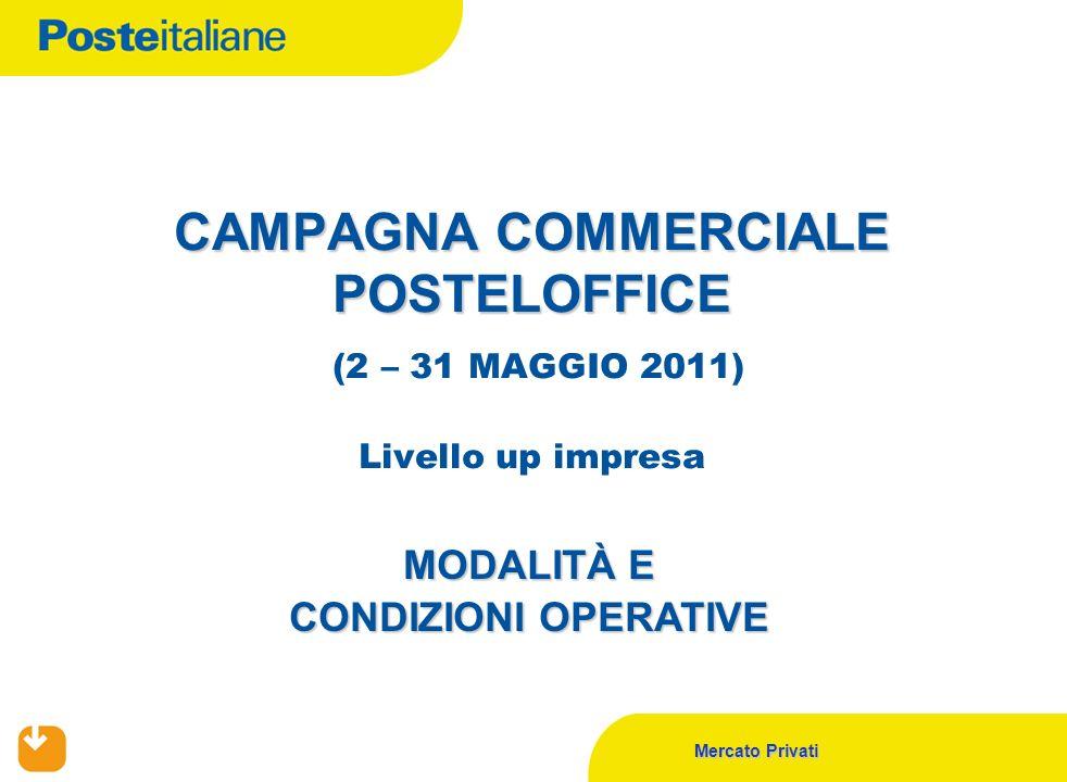 Mercato Privati CAMPAGNA COMMERCIALE POSTELOFFICE CAMPAGNA COMMERCIALE POSTELOFFICE (2 – 31 MAGGIO 2011) Livello up impresa MODALITÀ E CONDIZIONI OPER