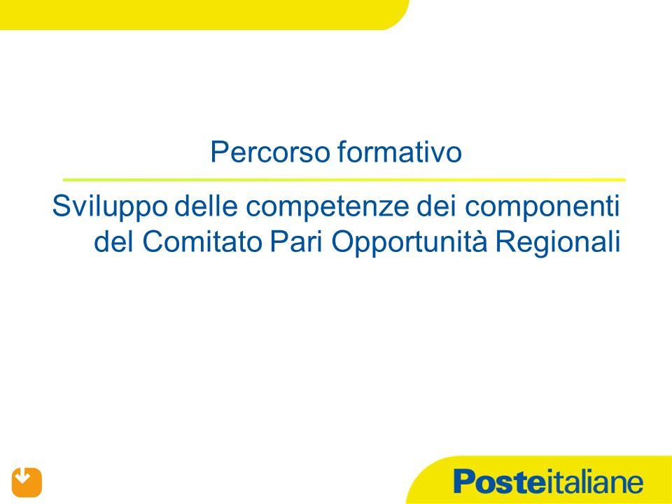 Percorso formativo Sviluppo delle competenze dei componenti del Comitato Pari Opportunità Regionali