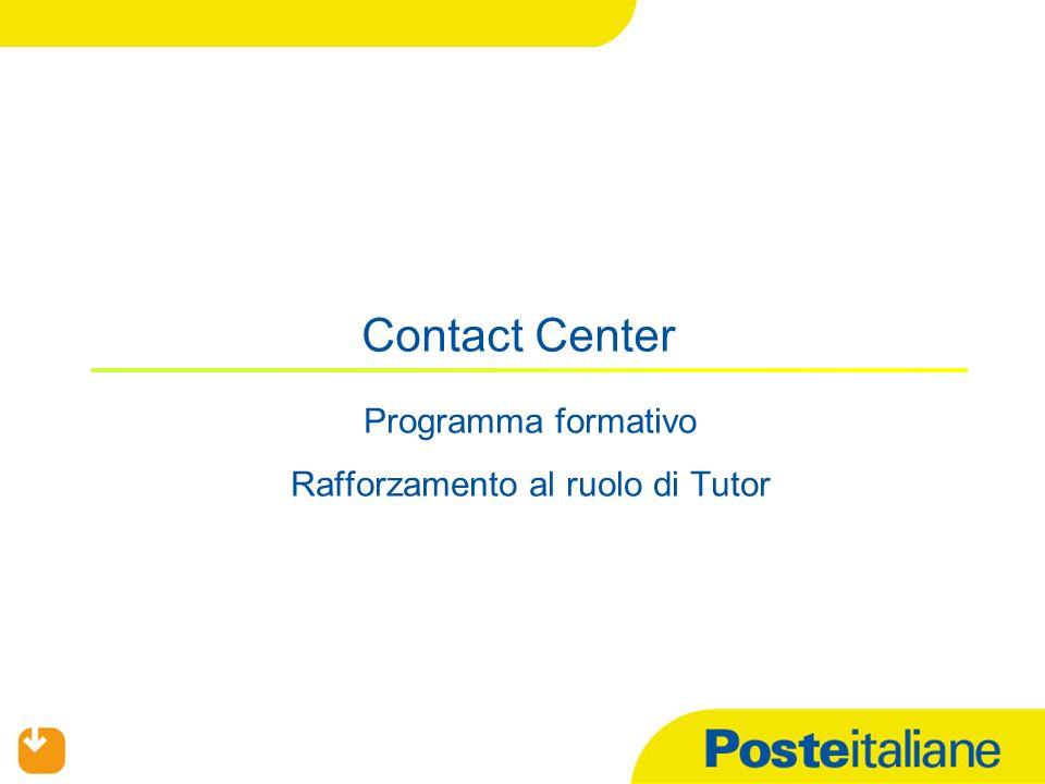 Programma formativo Rafforzamento al ruolo di Tutor Contact Center