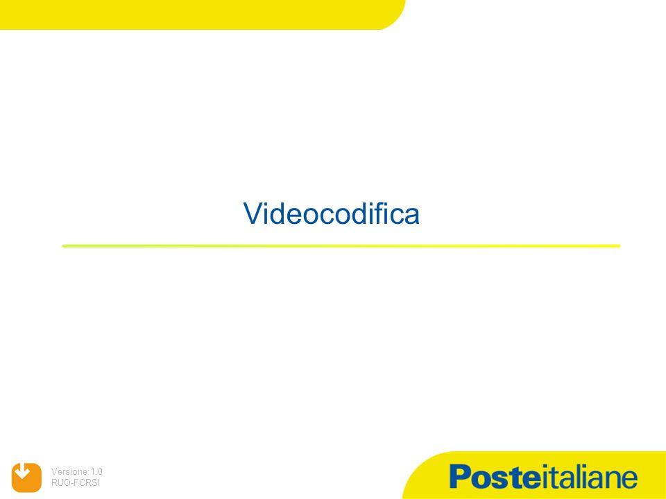 05/02/2014 Versione:1.0 RUO-FCRSI Videocodifica
