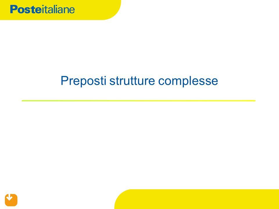 Preposti strutture complesse