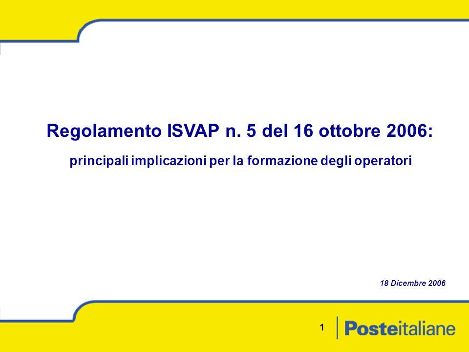 1 Regolamento ISVAP n.