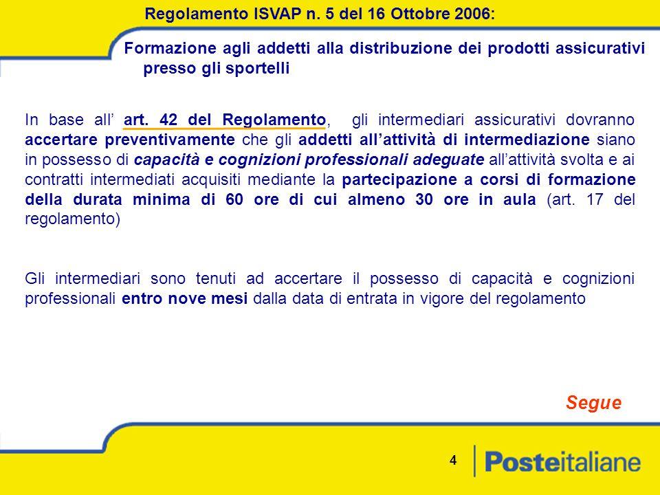 4 Regolamento ISVAP n.