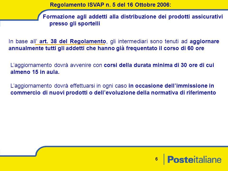 6 Regolamento ISVAP n.