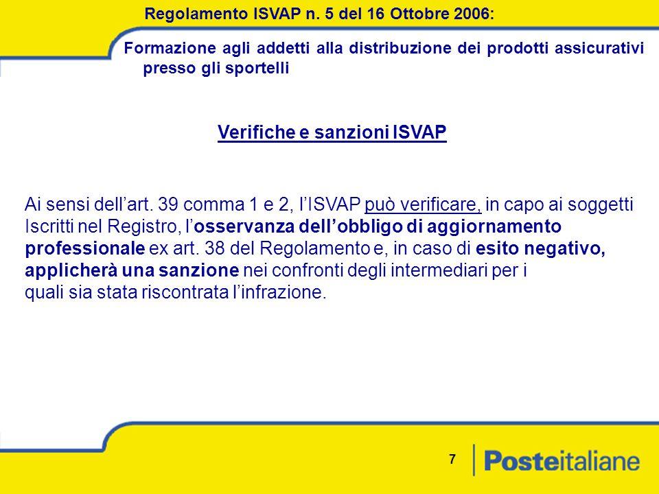 7 Regolamento ISVAP n.