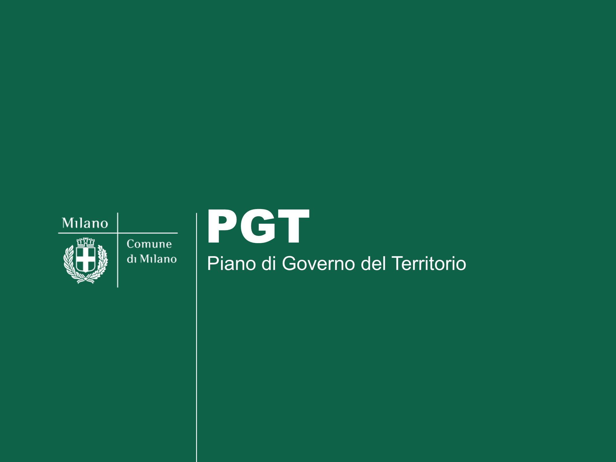 Piano di Governo del Territorio PGT