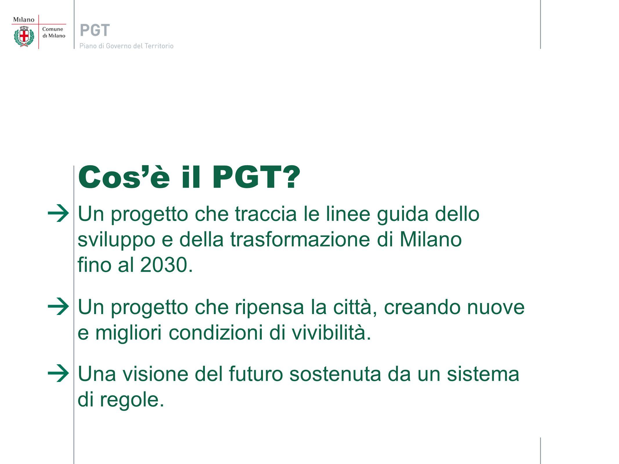 Cosè il PGT? Un progetto che traccia le linee guida dello sviluppo e della trasformazione di Milano fino al 2030. Un progetto che ripensa la città, cr