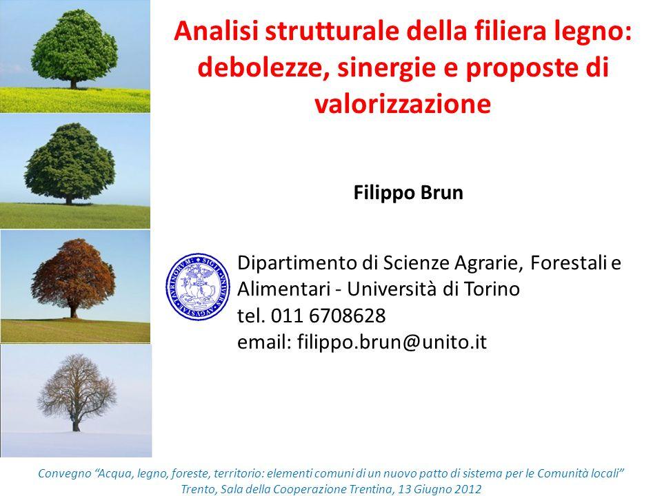 Contenuti della relazione Analisi del settore foresta-legno La gestione attiva delle risorse forestali Azioni di promozione Alcune riflessioni conclusive