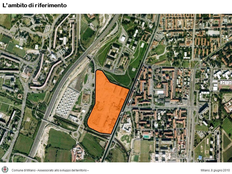 Il progetto Comune di Milano - Assessorato allo sviluppo del territorio –Milano, 8 giugno 2010