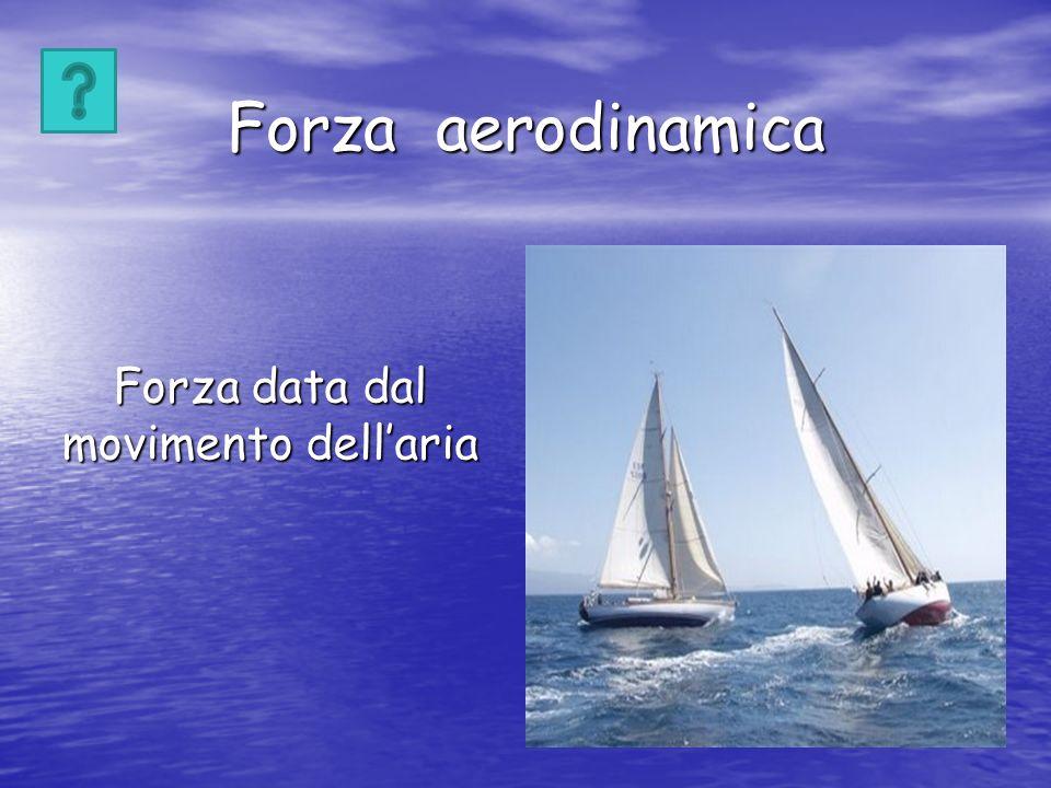 Forza aerodinamica Forza data dal movimento dellaria
