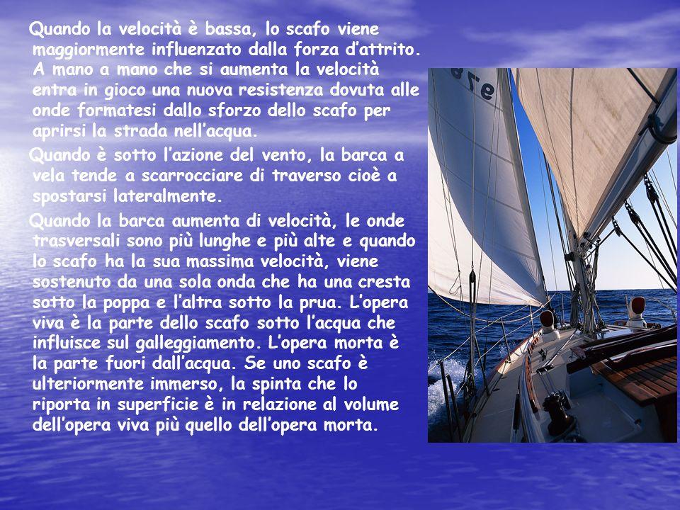 Stabilit à dello scafo La stabilità è un elemento importante di sicurezza ed è la capacità di opporsi al capovolgimento, provocato dal vento e dal moto ondoso.