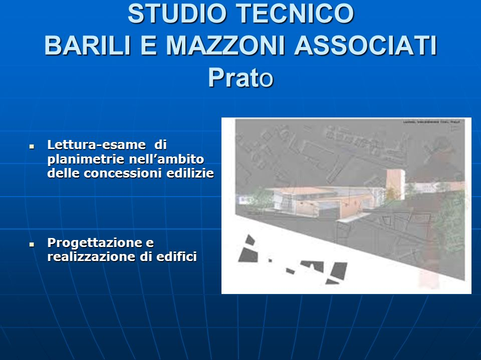 STUDIO TECNICO BARILI E MAZZONI ASSOCIATI Prato Lettura-esame di planimetrie nellambito delle concessioni edilizie Lettura-esame di planimetrie nellam