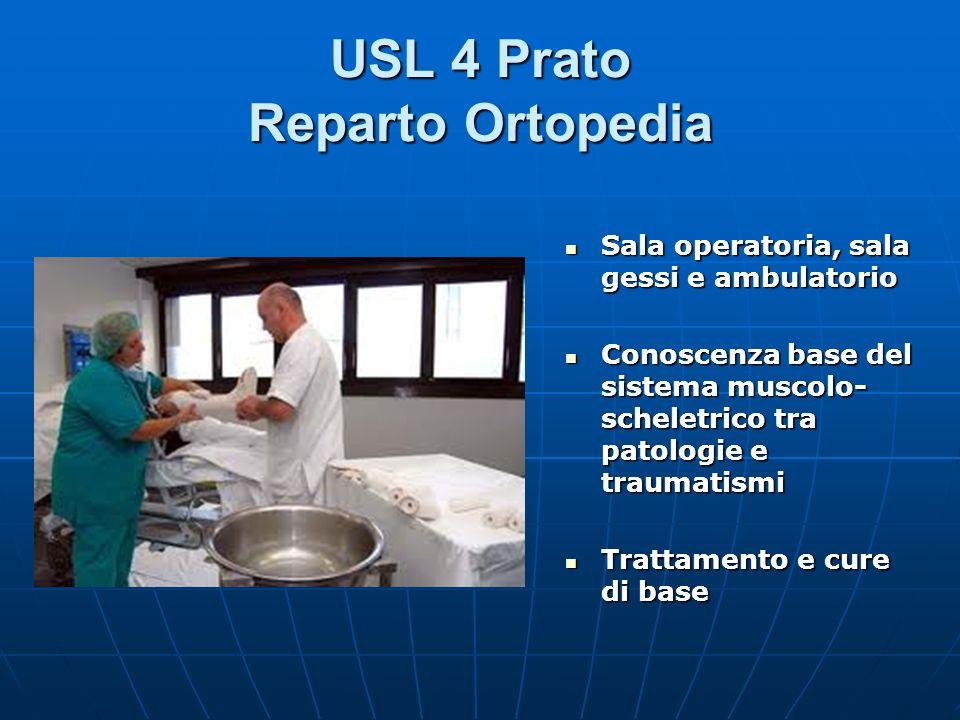 USL 4 Prato Reparto Ortopedia Sala operatoria, sala gessi e ambulatorio Sala operatoria, sala gessi e ambulatorio Conoscenza base del sistema muscolo-