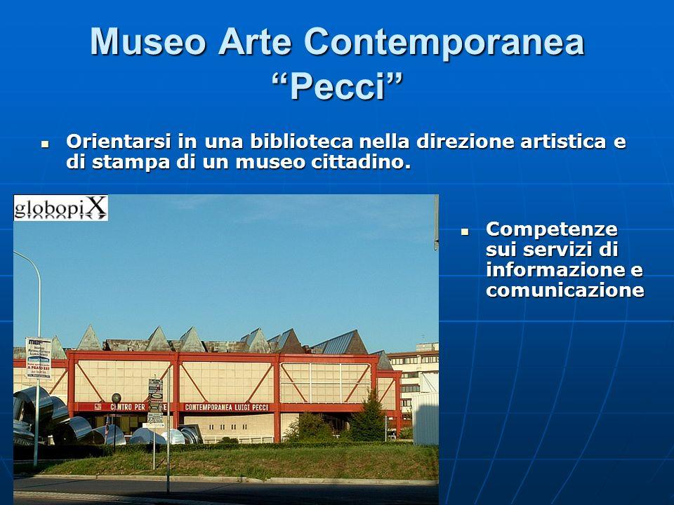 Museo Arte Contemporanea Pecci Orientarsi in una biblioteca nella direzione artistica e di stampa di un museo cittadino. Orientarsi in una biblioteca