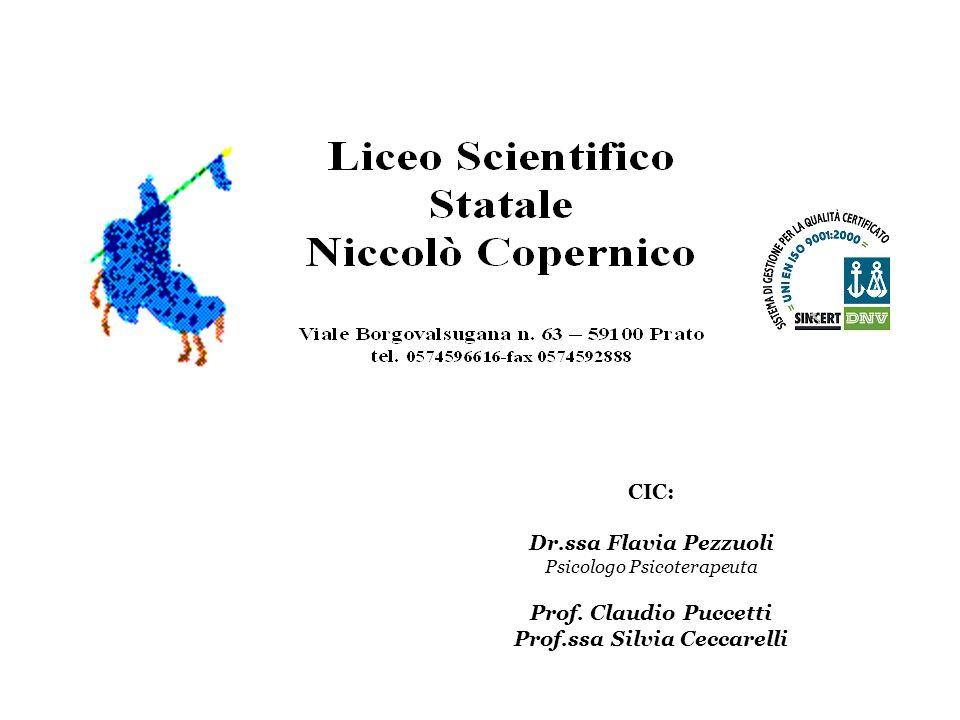 CIC: Dr.ssa Flavia Pezzuoli Psicologo Psicoterapeuta Prof. Claudio Puccetti Prof.ssa Silvia Ceccarelli