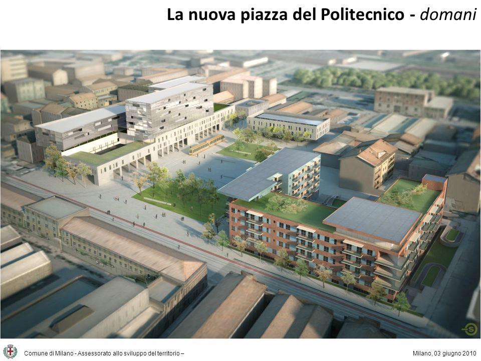 La nuova piazza del Politecnico - domani Comune di Milano - Assessorato allo sviluppo del territorio –Milano, 03 giugno 2010 Lo stato di fatto