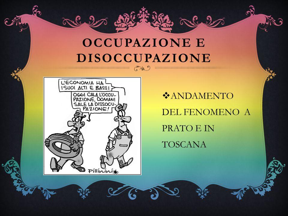 OCCUPAZIONE E DISOCCUPAZIONE ANDAMENTO DEL FENOMENO A PRATO E IN TOSCANA