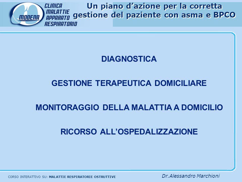ALCUNI SITI DI INTERESSE PNEUMOLOGICO SULLA GESTIONE DELLE PATOLOGIE OSTRUTTIVE BRONCHIALI www.GOLDCOPD.it www.unife.it/asma www.ginasthma.com Medico di MMGSpecialistaBPCOAsma