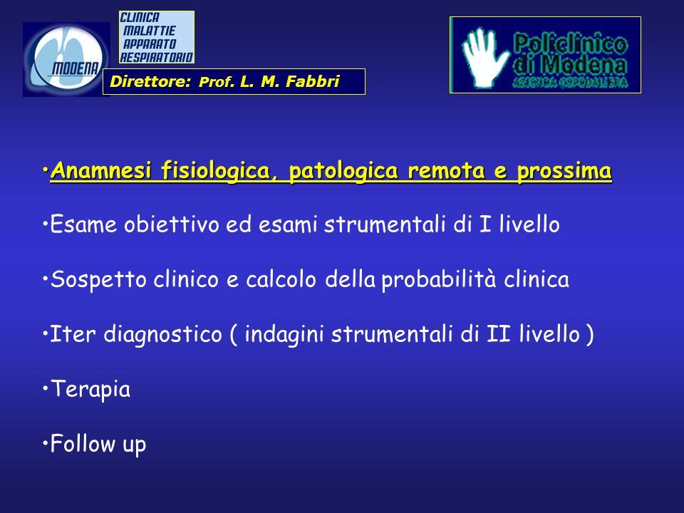 Direttore: Prof. L. M. Fabbri Anamnesi fisiologica, patologica remota e prossimaAnamnesi fisiologica, patologica remota e prossima Esame obiettivo ed