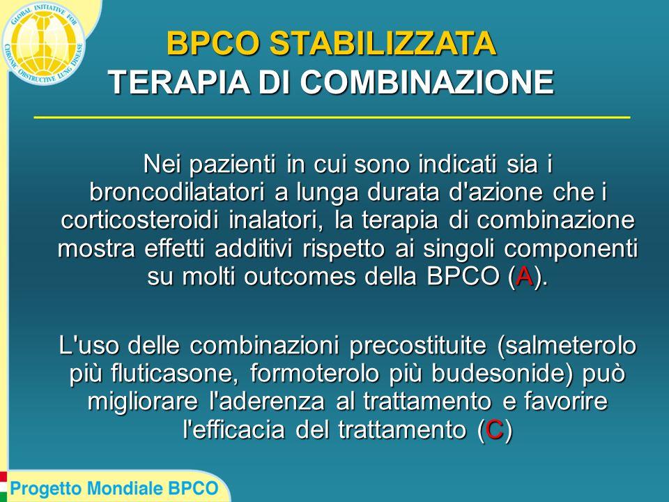 Nei pazienti in cui sono indicati sia i broncodilatatori a lunga durata d'azione che i corticosteroidi inalatori, la terapia di combinazione mostra ef
